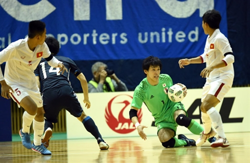Viet Nam lose 0-7 to Japan in futsal friendly match