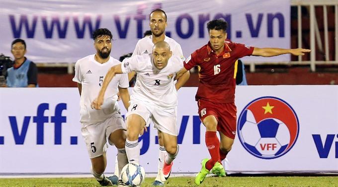 Việt Nam tie goalless with Jordan