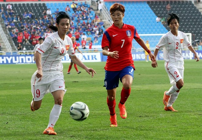 Việt Nam lose to South Korea at Asian Cup