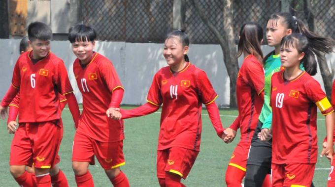 Việt Nam beat Bahrain at AFC women's champs