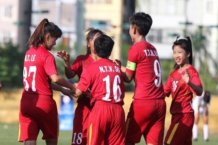 Việt Nam crush Lebanon 7-0 at AFC women's champs