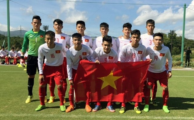 Việt Nam lose to Japan in Jenesys football event