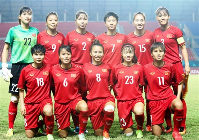 Vietnamese women's football team rise one place in FIFA rankings